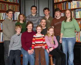 Back row: Owen, Amanda, Philip, Sam, Jacob, Helen Front Row: Karl, Sally, Laurel, Bud, Mary