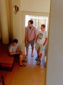 Philip and Karl in the doorway
