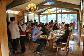 Dining at Laity (photo by Kristen Peterson)