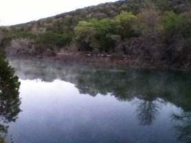 Frio River from the balcony
