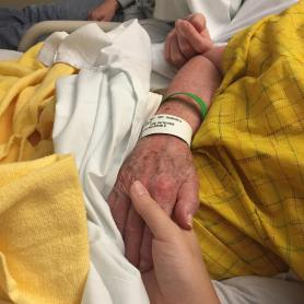 Three generations of hands