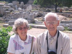My mother and father on their trip to Greece